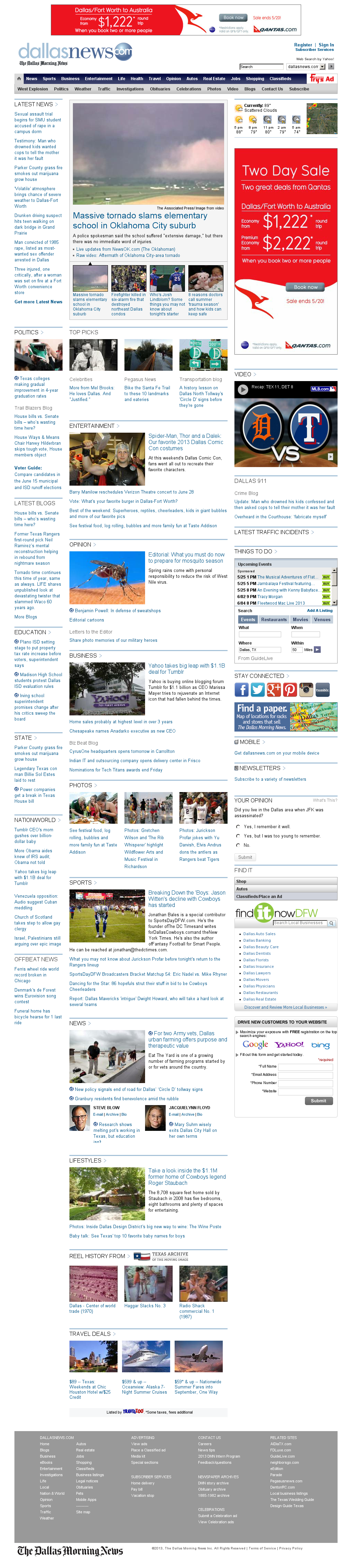 dallasnews.com at Monday May 20, 2013, 10:04 p.m. UTC