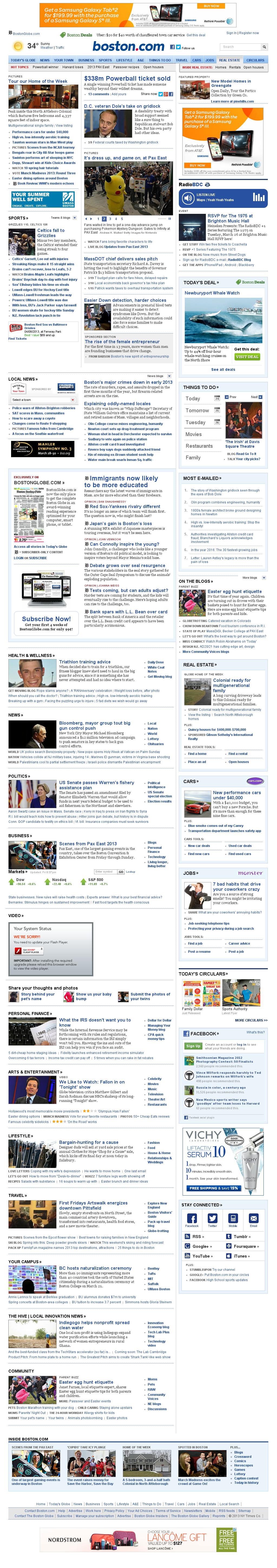 Boston.com at Sunday March 24, 2013, 1:04 p.m. UTC