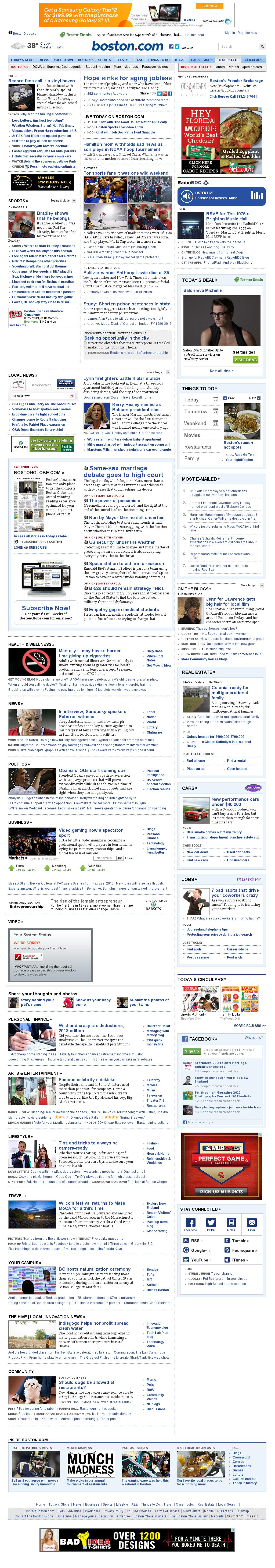 Boston.com at Monday March 25, 2013, 2:10 p.m. UTC