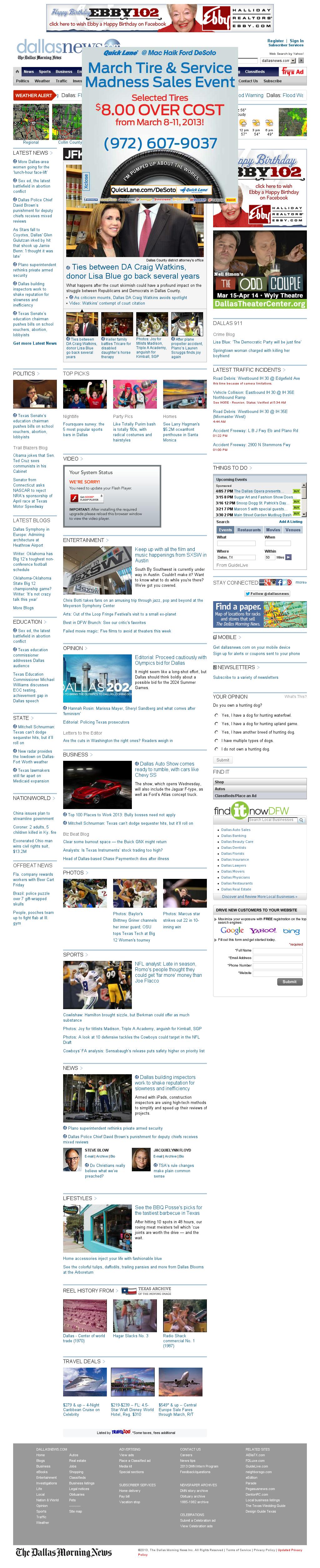 dallasnews.com at Sunday March 10, 2013, 11:04 a.m. UTC