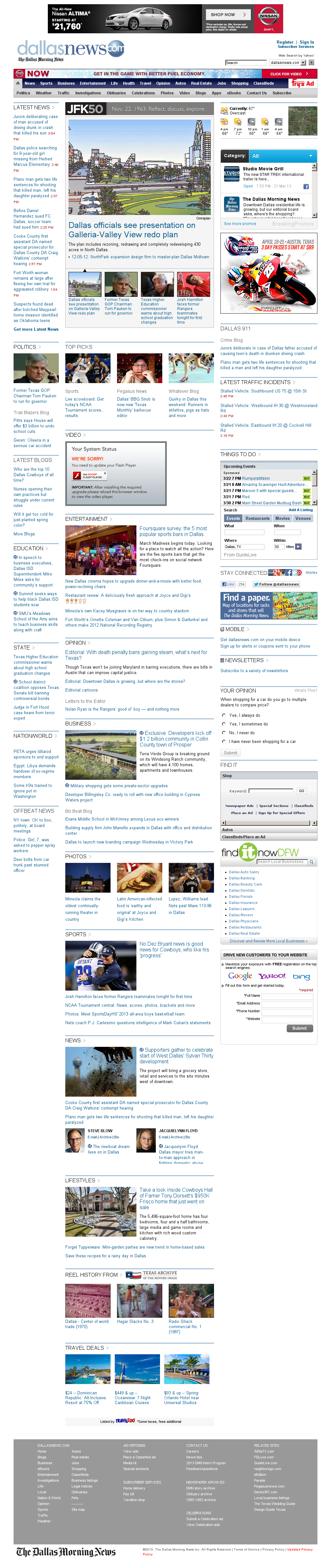 dallasnews.com at Thursday March 21, 2013, 8:04 p.m. UTC