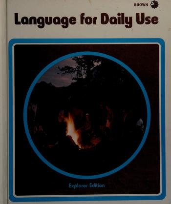 Cover of: Language for daily use | Mildred Agnes Dawson