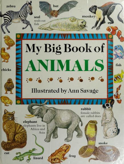My Big Book of Animals (The My Big Book Series) by Jenny Vaughan