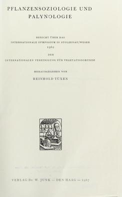 Cover of: Pflanzensoziologie und Palynologie   Internationale Symposium fur Pflanzensoziologie und Palynologie,Stolzenau/Weser, 1962
