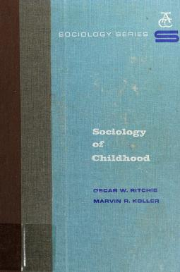Cover of: Sociology of childhood | Oscar W. Ritchie