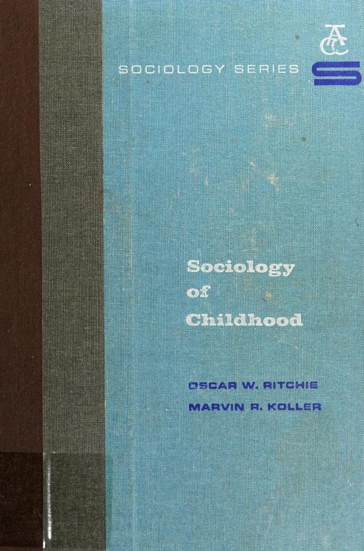 Sociology of childhood by Oscar W. Ritchie